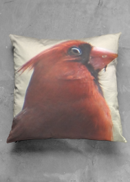VIDA SQUARE PILLOW (MR CARDINAL)